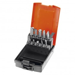 Set di 10 frese rotative Z7 con dentatura alternata HM HOLEX