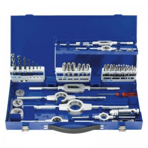 Set di 45 utensili per filettatura metrica M3-12 HOLEX